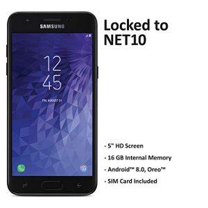 Net10 Carrier-Locked Samsung Galaxy J3 Orbit 4G LTE Prepaid Smartphone - Black - 16GB - Sim Card Included - CDMA