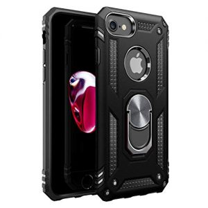 iPhone 7 Case | iPhone 8 Case [ Military Grade ] 15ft. Drop Tested Protective Case | Kickstand | Compatible with Apple iPhone 8 / iPhone 7 / iPhone 6 6s- Black